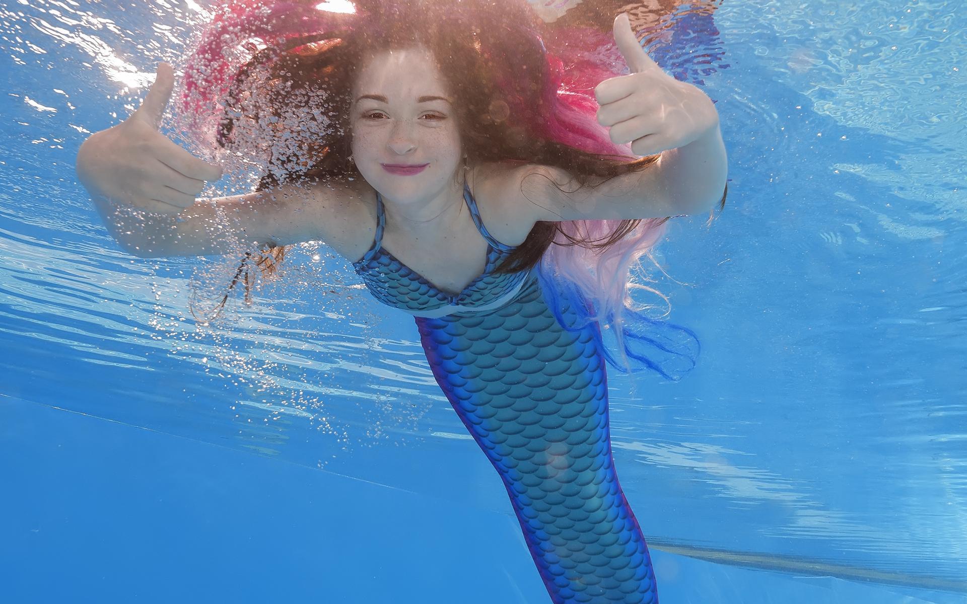 Mermaiding Meerjungfrauenschwimmen